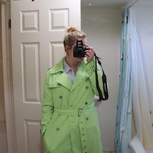 Green raincoat/trench coat